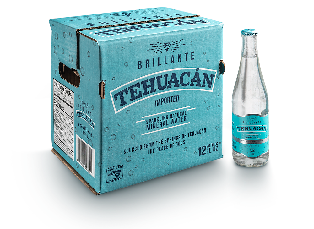 Tehuacan Brillante sparkling mineral water is sourced from springs within Citlaltépetl, Mexico's highest mountain. Water from Citlaltépetl's glacier-topped peak is naturally mineralized during its eight-year journey through the mountain's rich volcanic rock, where the legend of Tehuacán's calming waters was born.